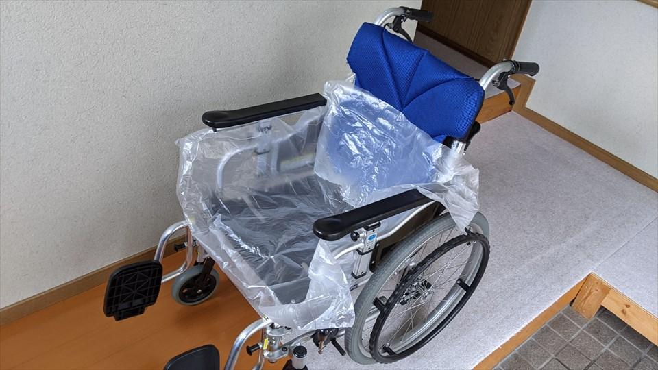 養生シート 車椅子にカバー